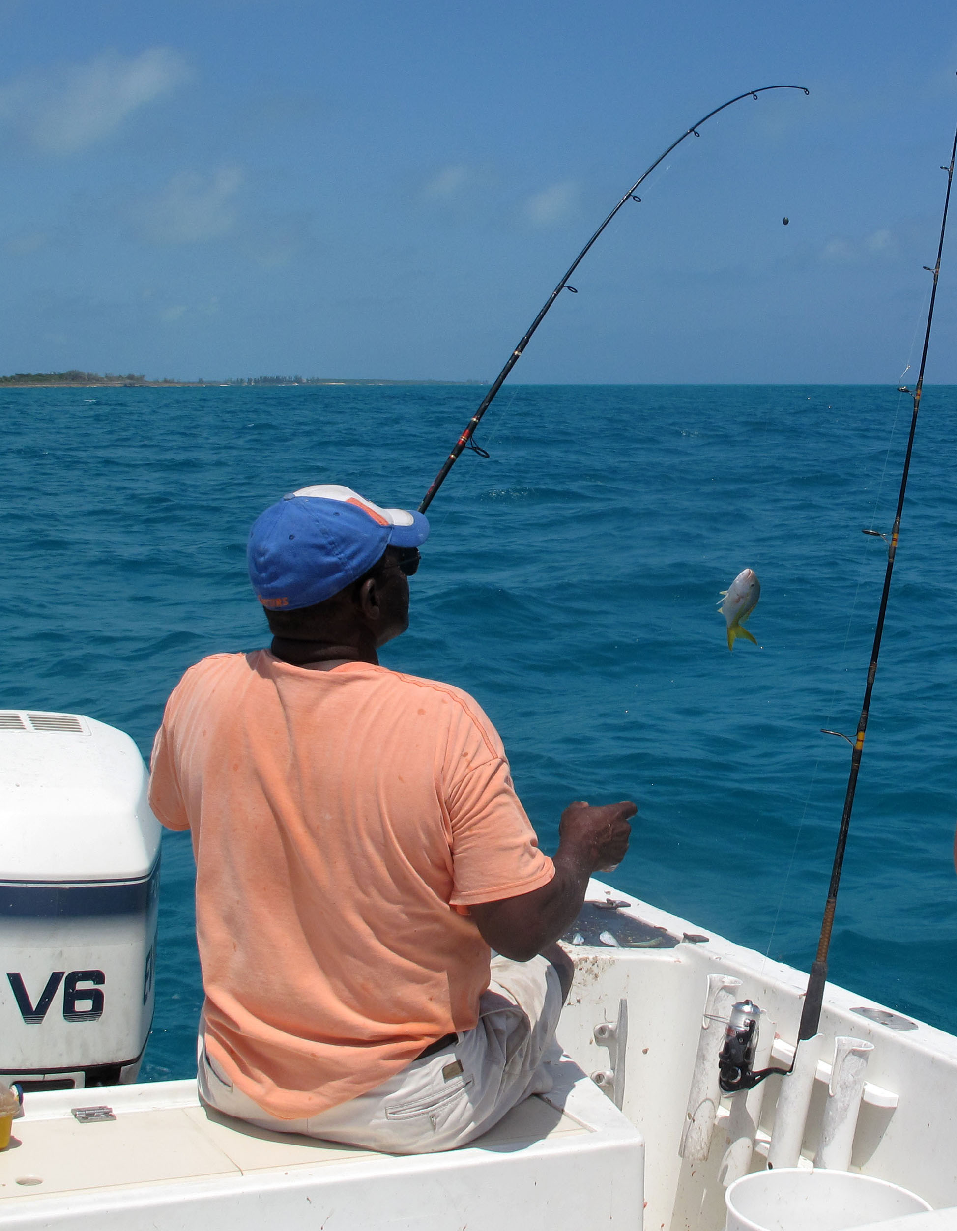 bahamas, abaco, green turtle cay, new plymouth, lincoln jones, fishing, yellow tail