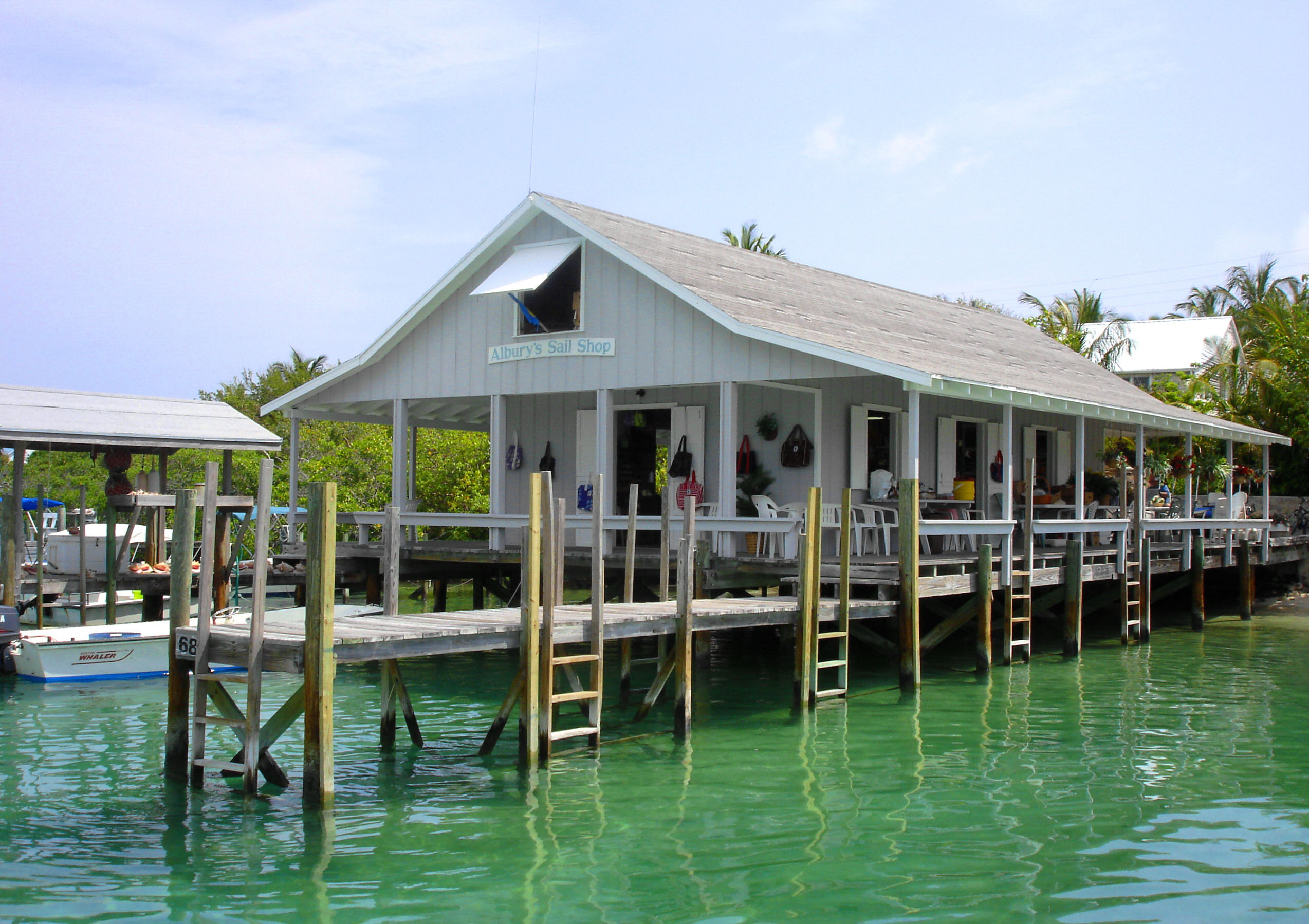 abaco, bahamas, man-o-war, albury's sail shop