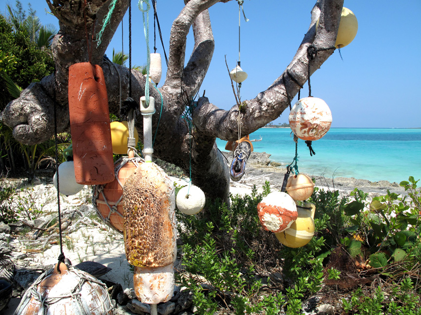 bahamas, abaco, green turtle cay, floats, beach