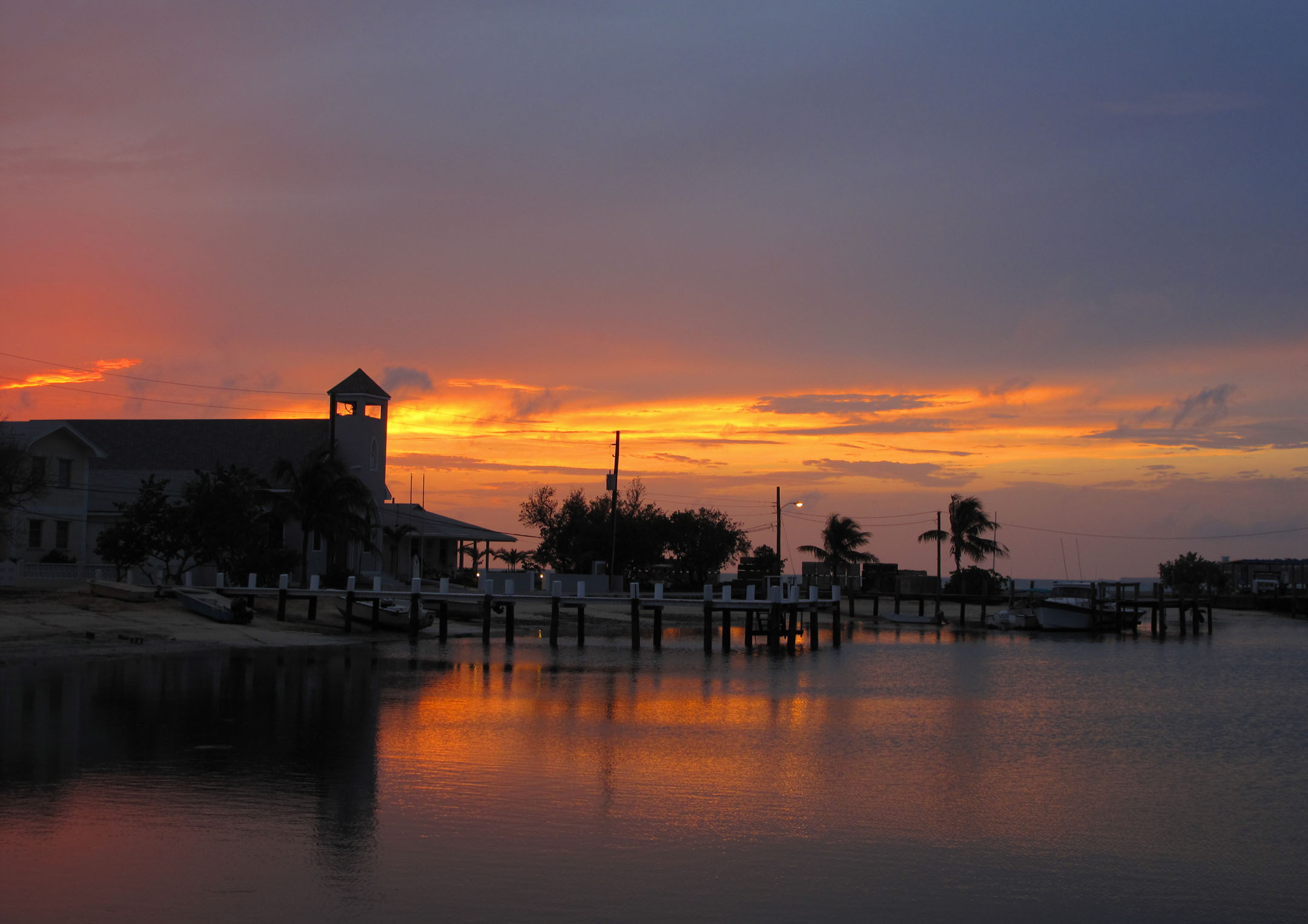 bahamas, abaco, green turtle cay, new plymouth, sunset