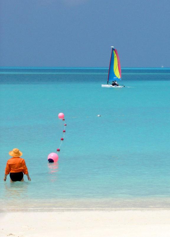 bahamas, abaco, treasure cay, beach, sailboat