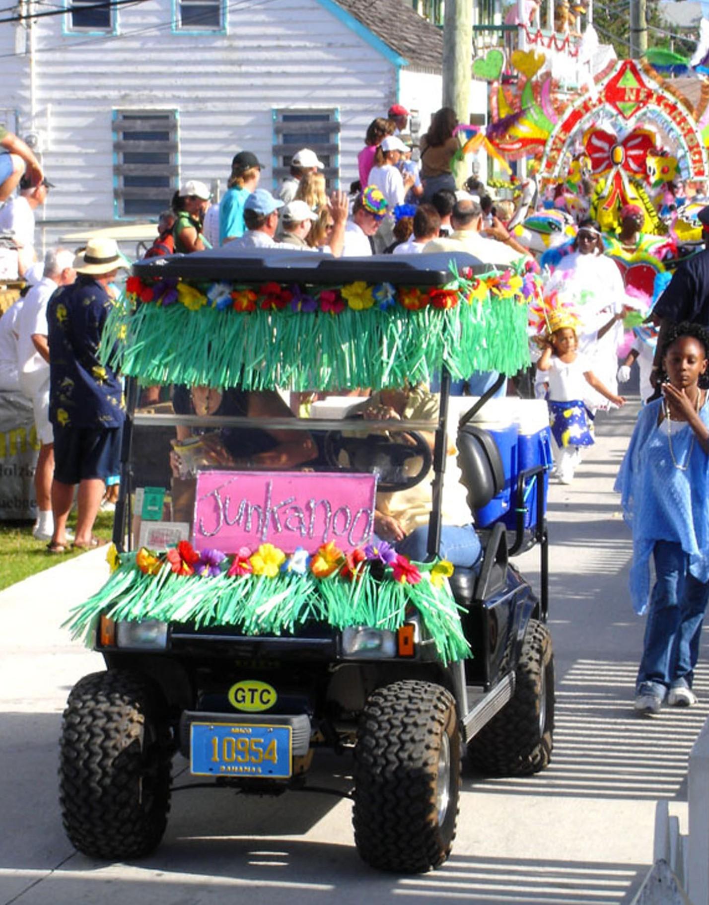 bahamas, abaco, green turtle cay, junkanoo, new years