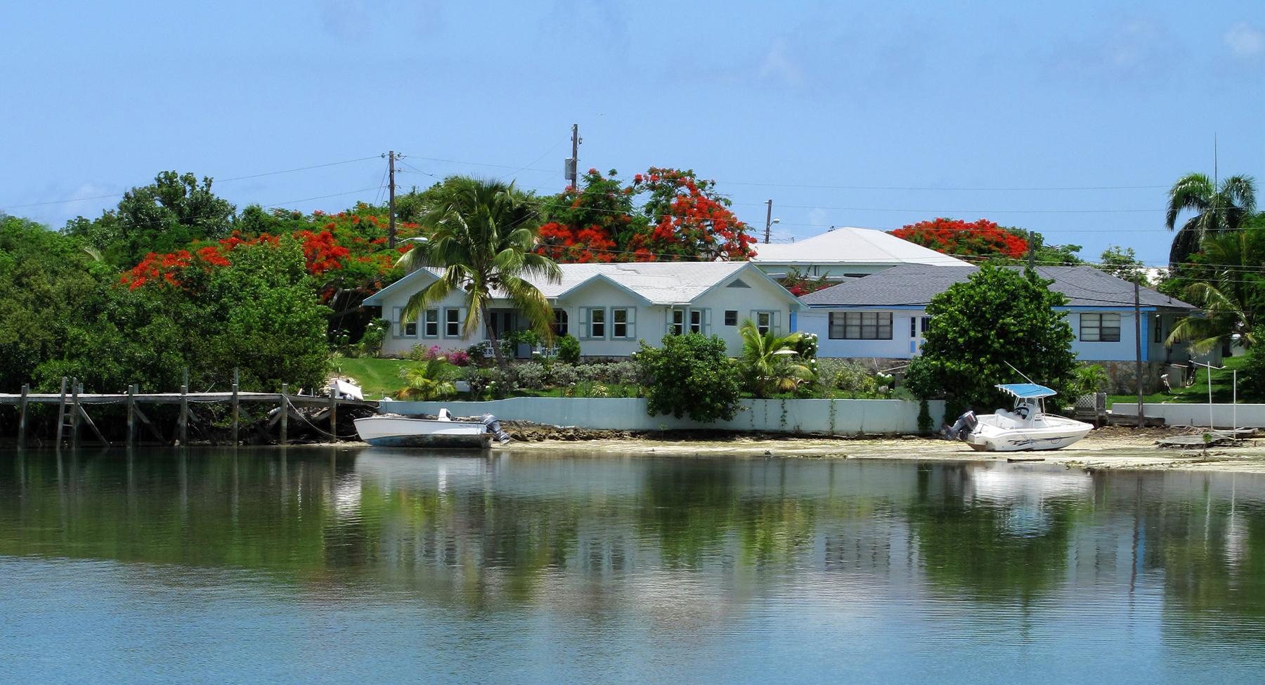 bahamas, abaco, green turtle cay, settlement creek