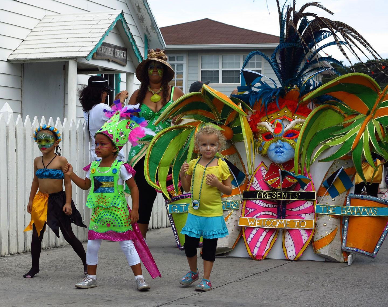bahamas, abaco, green turtle cay, junkanoo