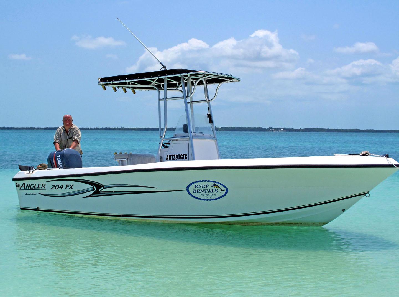 bahamas, abaco, green turtle cay, reef rentals, boat, gillam bay