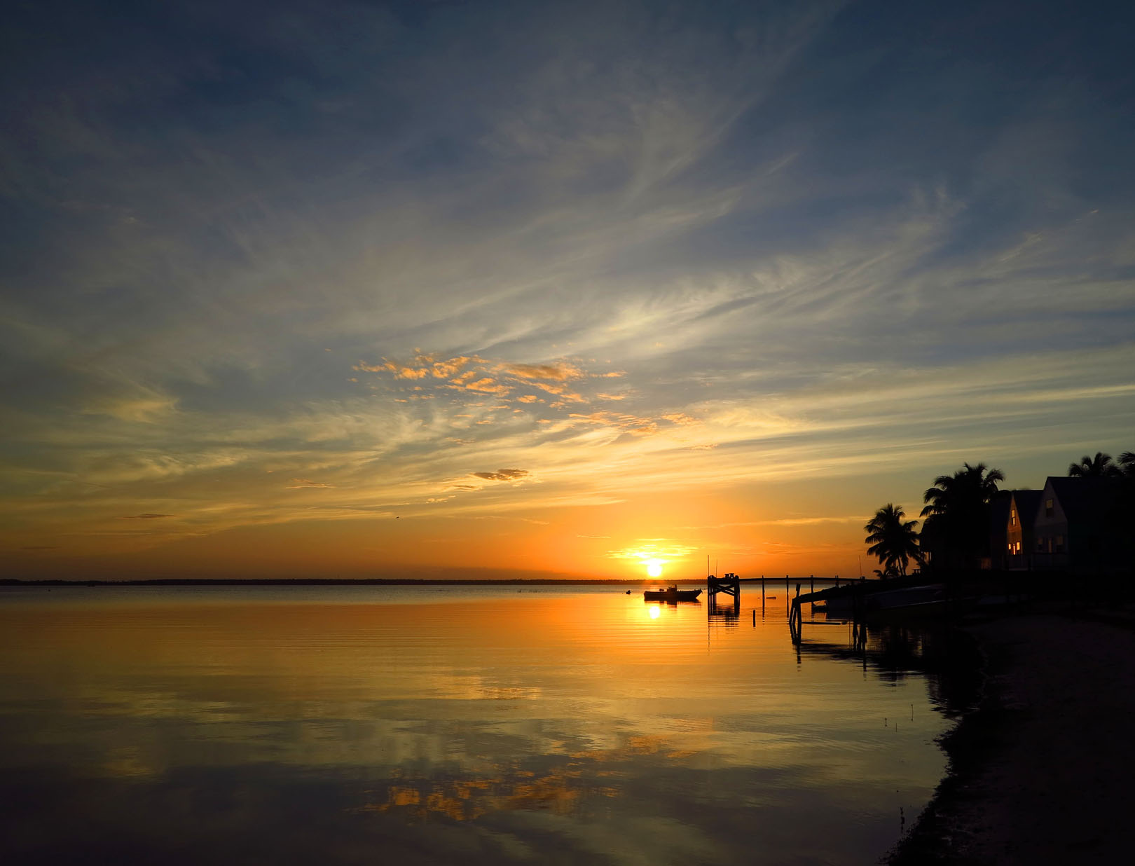 Sunset Over South Beach - Green Turtle Cay, Abaco, Bahamas