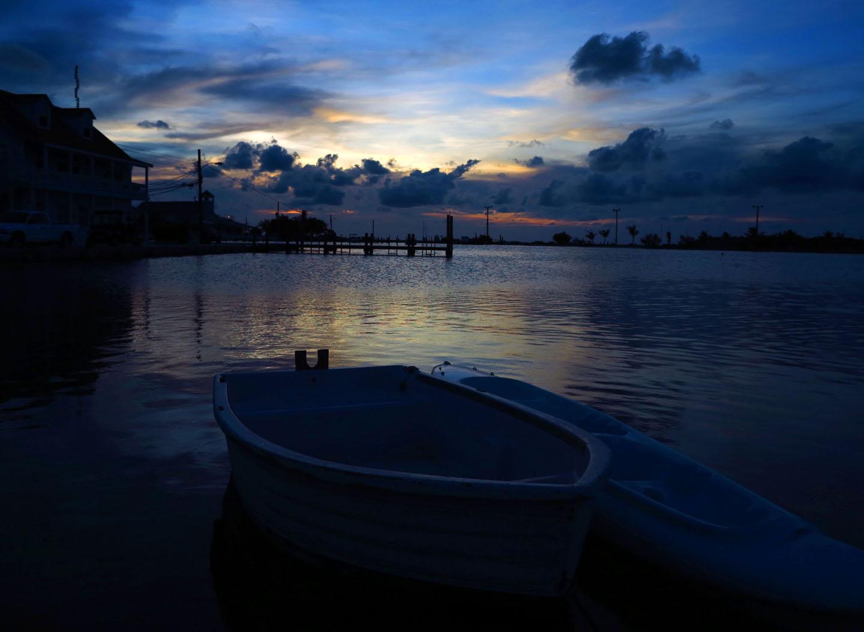 Sunset Over Settlement Creek - Green Turtle Cay, Abaco, Bahamas