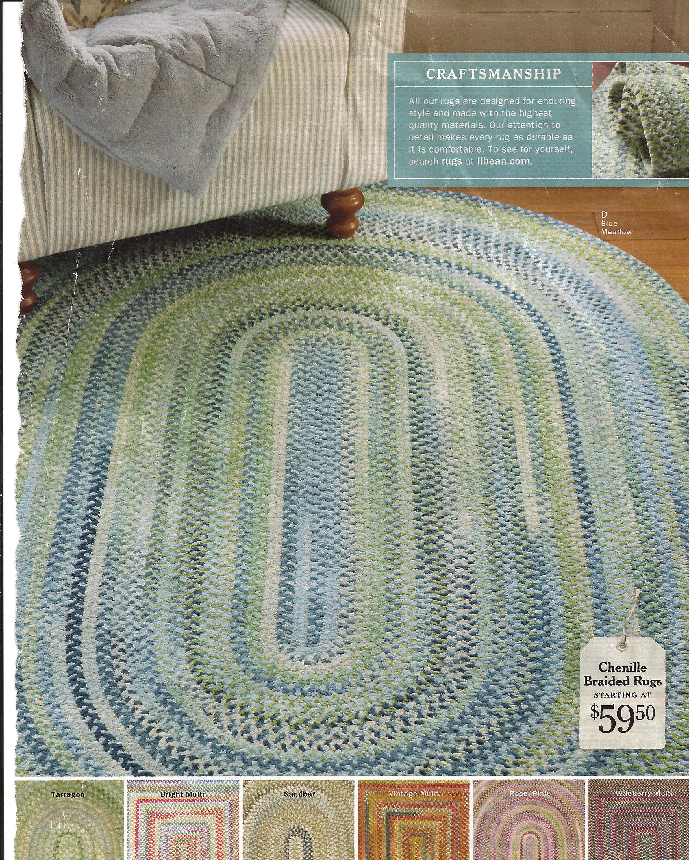 Braided Rug, LL Bean, Seaglass