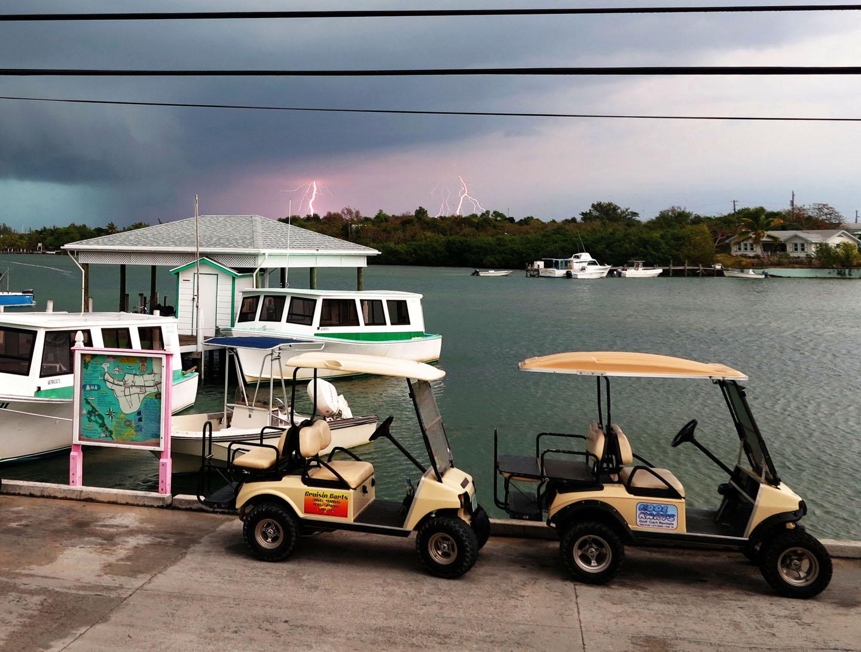 bahamas, abaco, green turtle cay, ferry, lightning