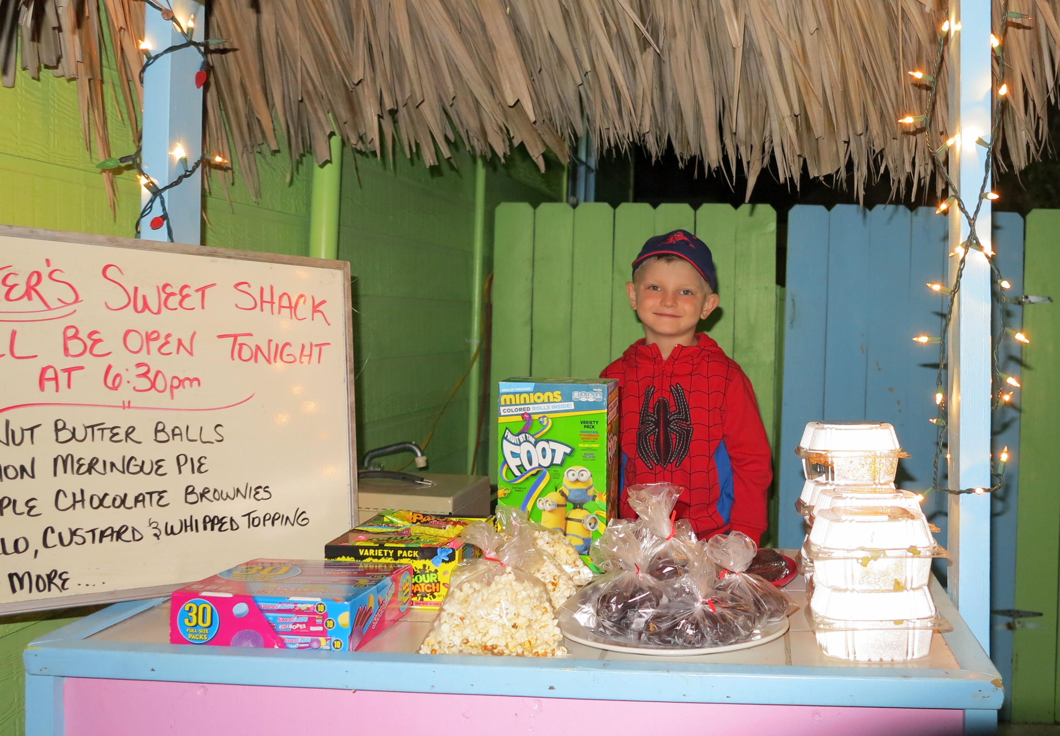 Abaco's Most Adorable Entrepreneur, Carter Farrington, who operates Carter's Sweet Shack on Green Turtle Cay.