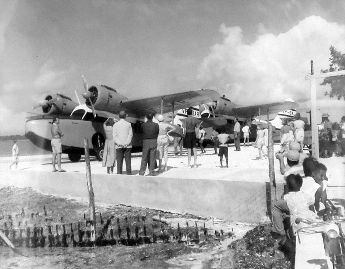 Seaplanes serviced Green Turtle Cay in the mid-20th century