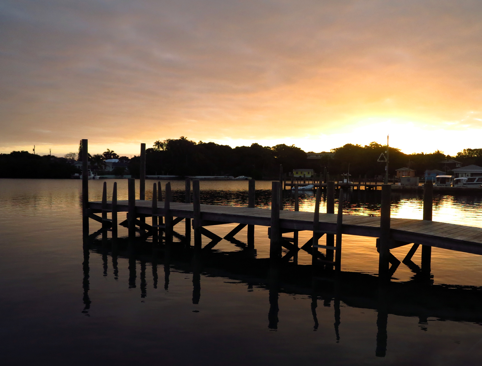 Sunrise in the harbour - Green Turtle Cay, Abaco, Bahamas