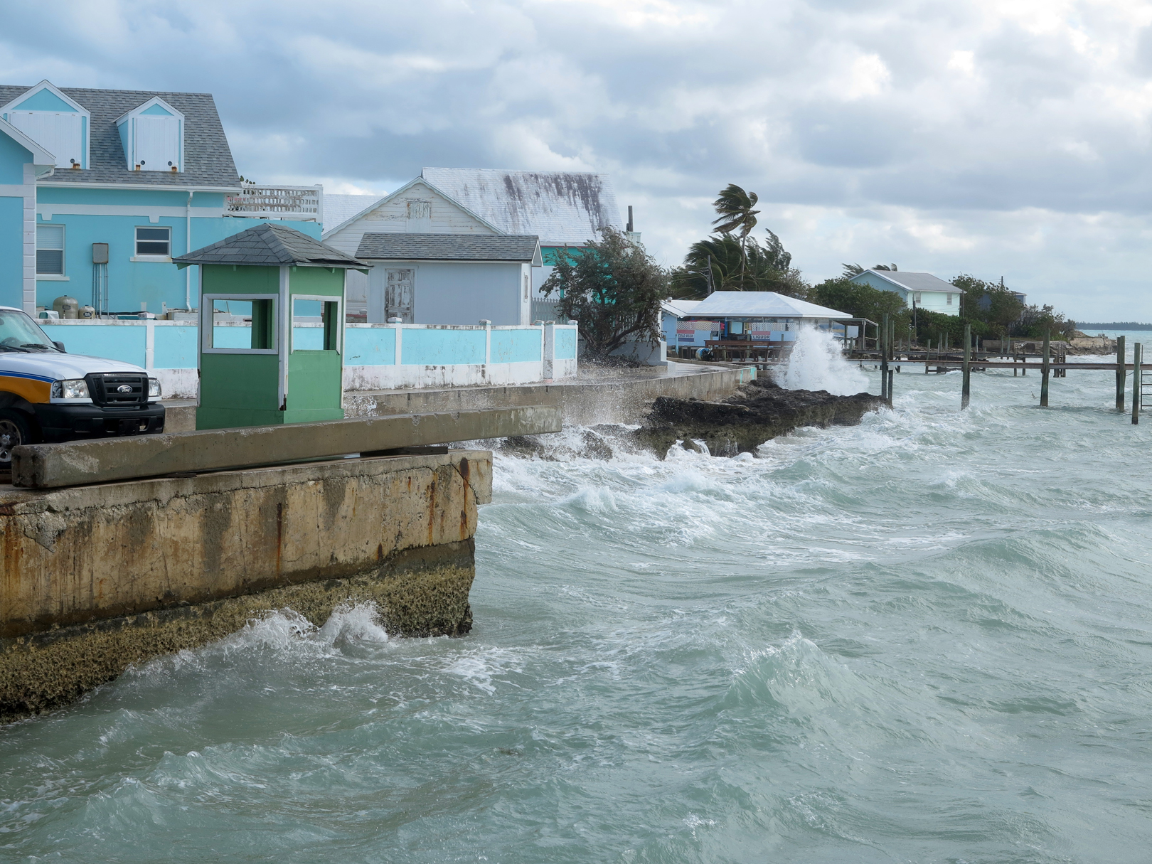 Windy day in Green Turtle Cay, Abaco, Bahamas