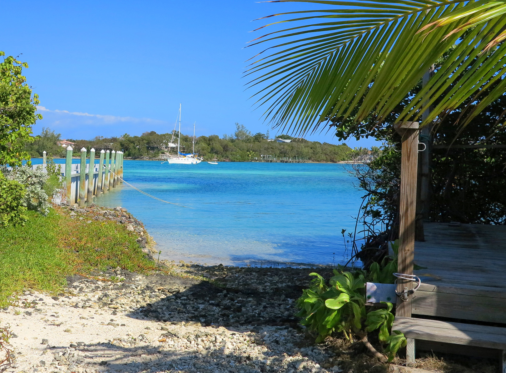 View at north end of the cay - Green Turtle Cay, Bahamas