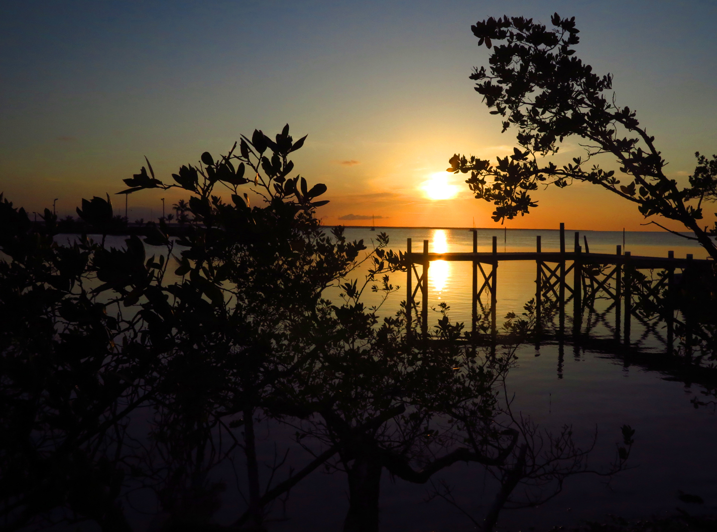 Sunset from the Other Shore, Green Turtle Cay