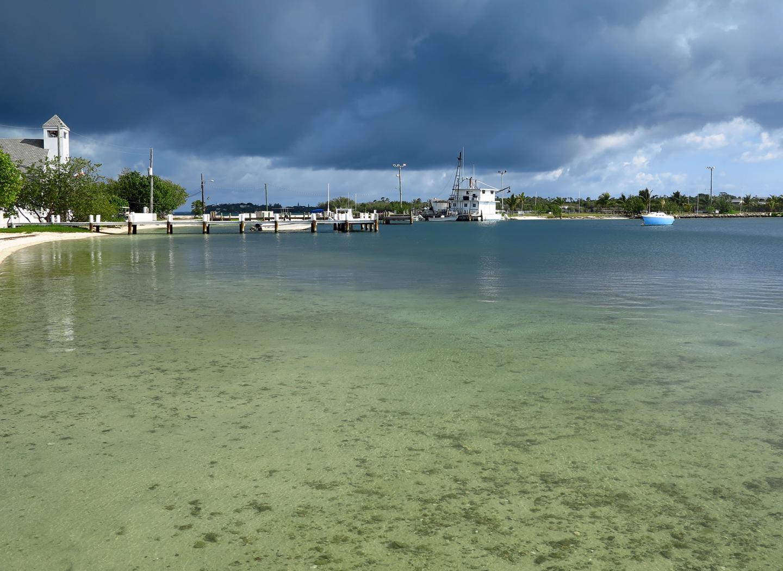 Storm Clouds Move Toward Green Turtle Cay - Abaco, Bahamas.  www.LittleHousebytheFerry.com