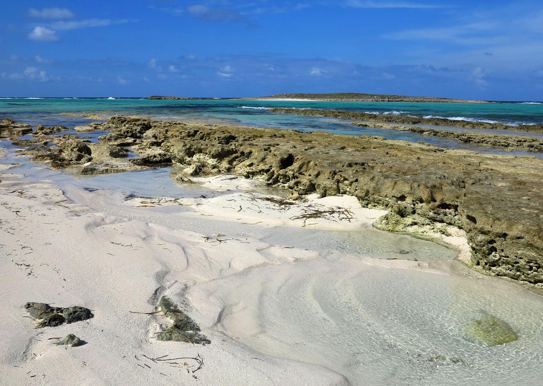 Rocky shore, Green Turtle Cay, Bahamas