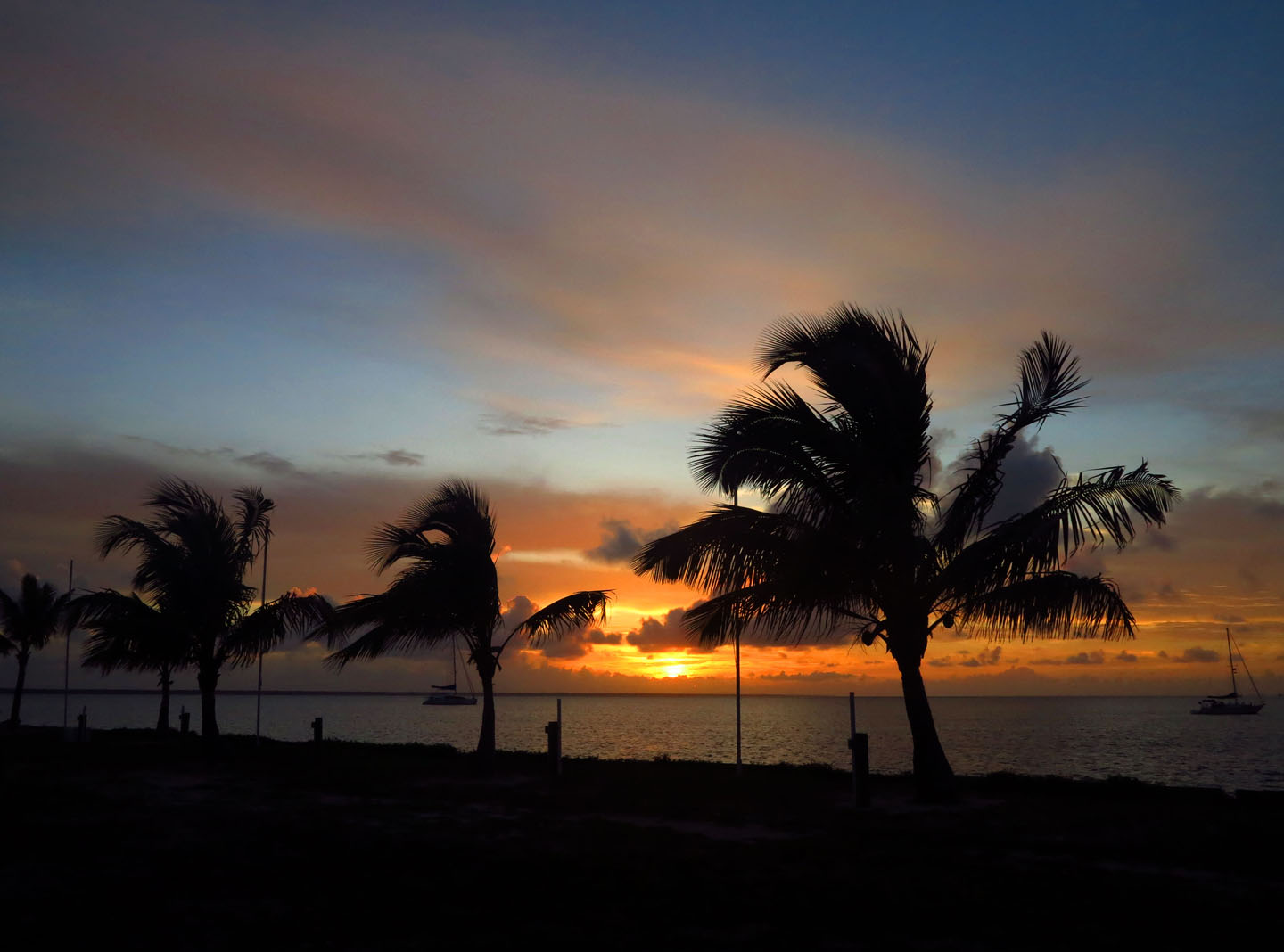 Sunset from Heritage Park at Settlement Point, Green Turtle Cay, Bahamas