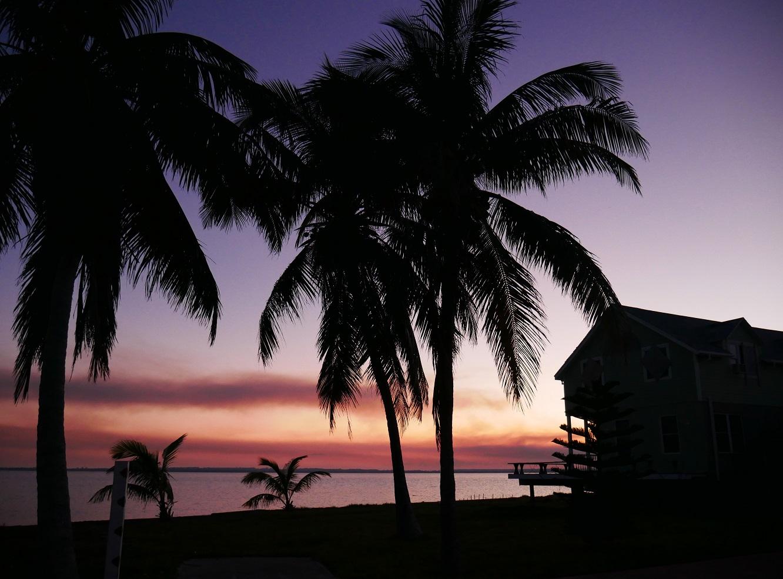 Sunset on the south beach
