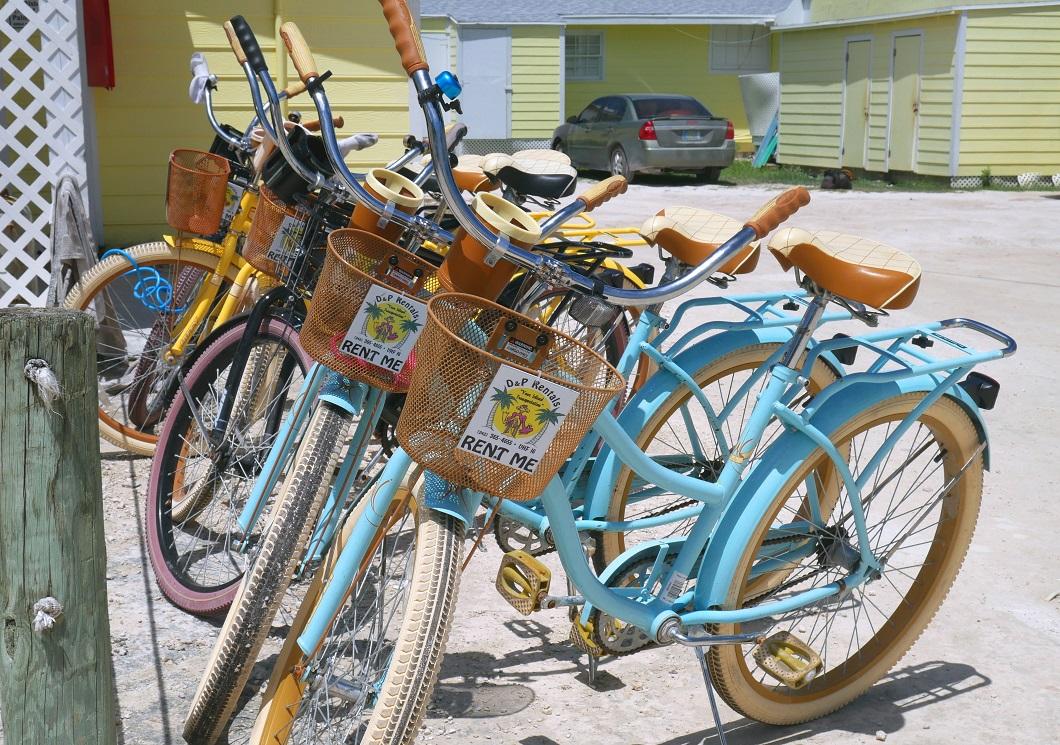 www.LittleHousebytheFerry.com - Daily Photo - Rental Bikes at D&P Rentals - Green Turtle club