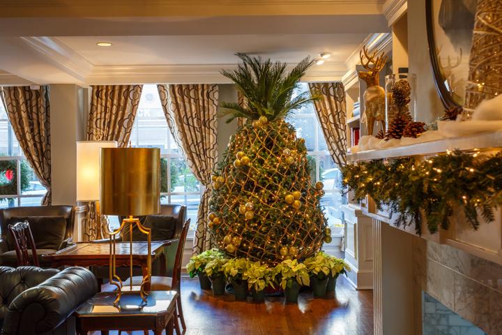 Pineapples as Christmas Trees