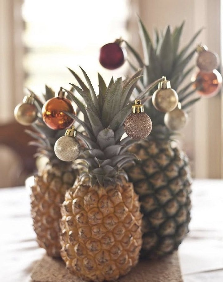 Pineapples as Christmas Trees?
