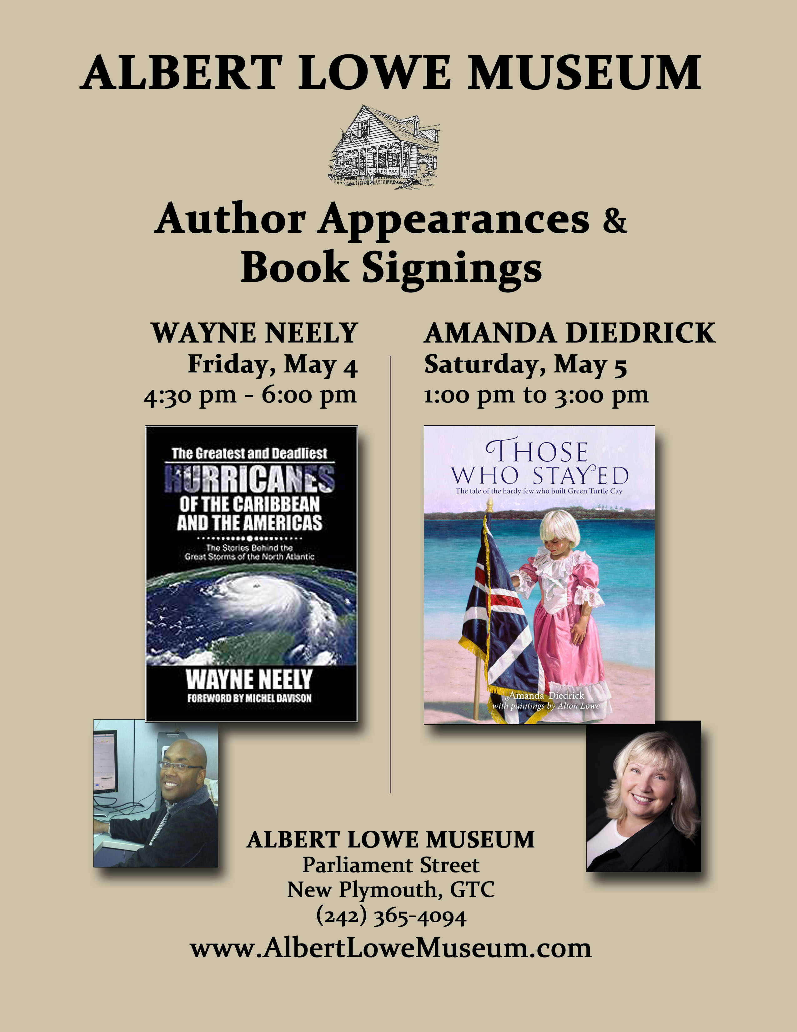 Albert Lowe Museum Hosts Bahamian Authors Diedrick and Neely