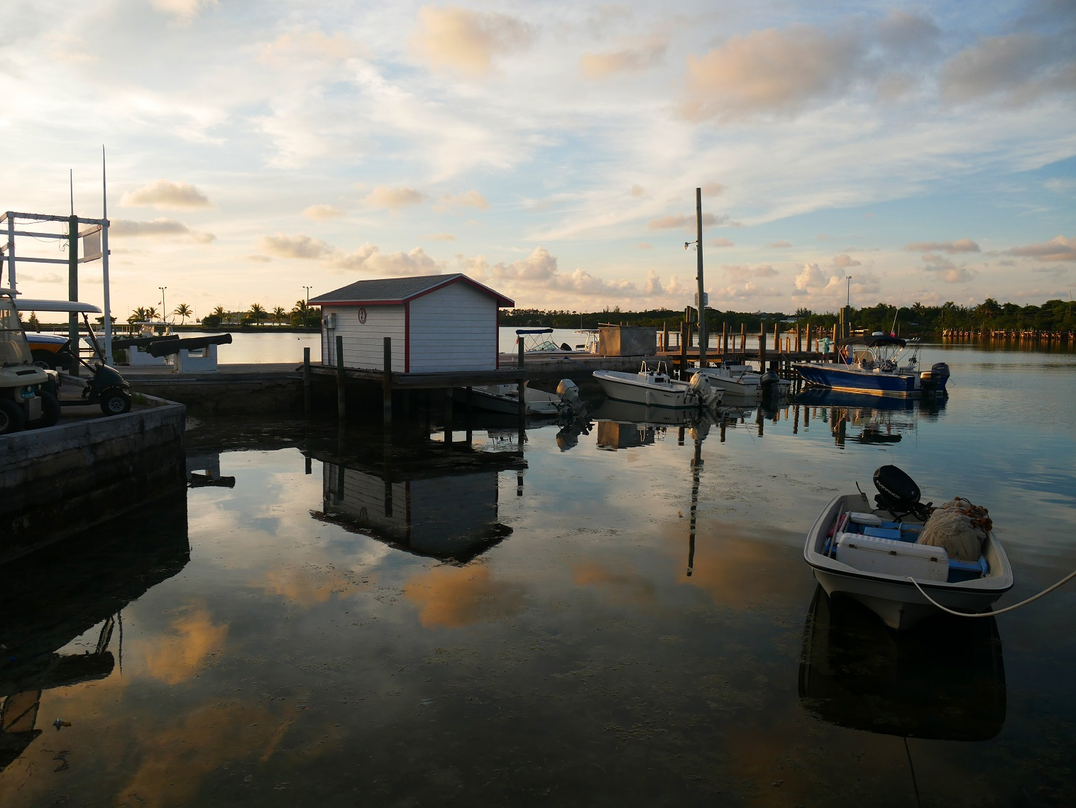 Govt Dock at Sunset - Green Turtle Cay, Abaco, Bahamas