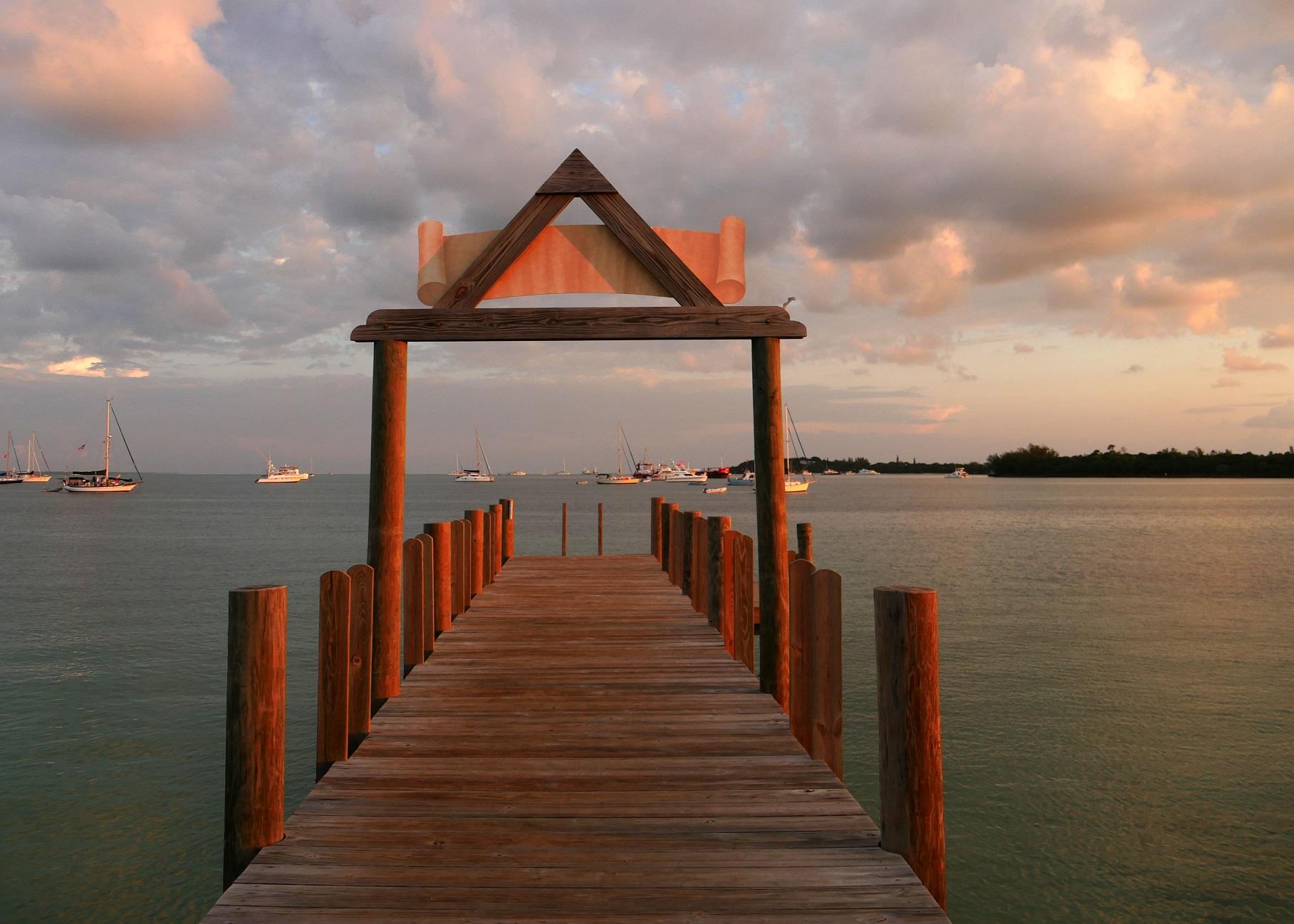 Early morning, Sea of Abaco, Green Turtle Cay, Abaco, Bahamas
