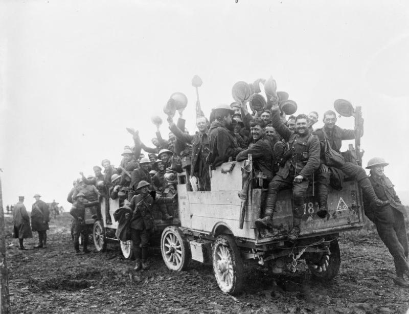 Canadian Solders in Courcelette, France (1916)